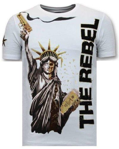 Local Fanatic T-shirt - Freedom Rebel - Wit
