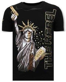 Local Fanatic T-shirt - Freedom Rebel - Zwart