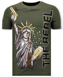 Local Fanatic T-shirt - Freedom Rebel - Grün