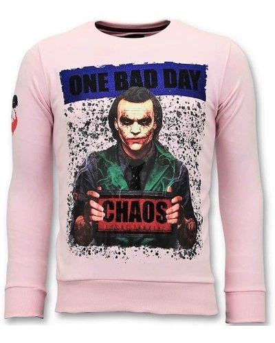 Local Fanatic Sweatshirt Men - Joker Chaos - Pink