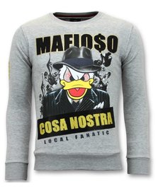 Local Fanatic Sweater Men - Mafioso Duck - Grau