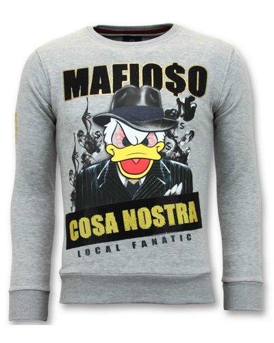 Local Fanatic Sweater Heren - Mafioso Duck - Grijs