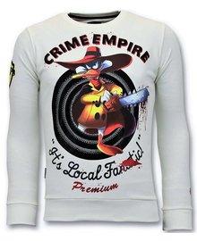 Local Fanatic Sweater Men - Darkwin Empire - Weiß