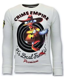 Local Fanatic Sweatshirt Men - Darkwin Empire - White
