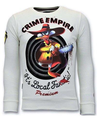 Local Fanatic Sweater Heren - Darkwin Empire - Wit