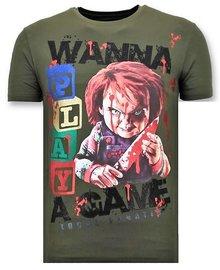Local Fanatic Camiseta - Wanna Play A Game - Verde