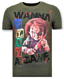 Local Fanatic T-shirt - Wanna Play A Game - Army