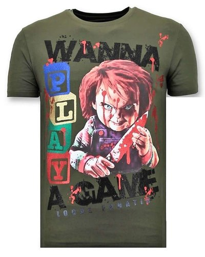 Local Fanatic T-shirt - Wanna Play A Game - Khaki