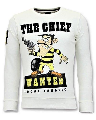 Local Fanatic Sweater Heren - Dalton The Chief - Wit