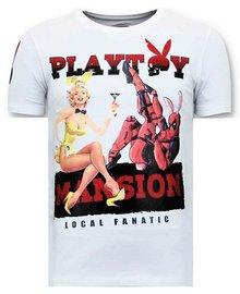 Local Fanatic Camiseta - The Playtoy Mansion - Blanco