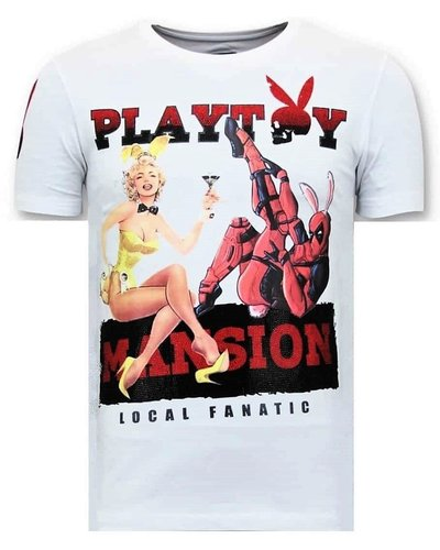 Local Fanatic T-shirt - The Playtoy Mansion - White