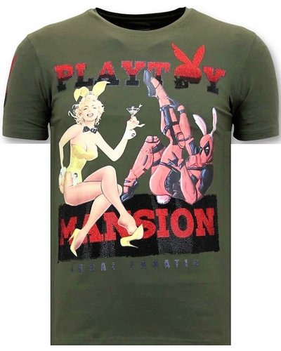 Local Fanatic T-shirt - The Playtoy Mansion - Groen