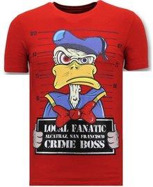 Local Fanatic T-shirt - Alcatraz Prisoner - Rot