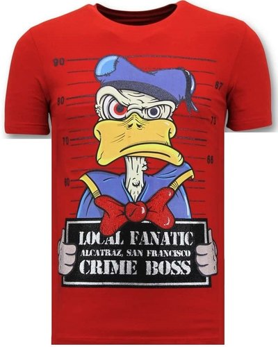 Local Fanatic T-shirt - Alcatraz Prisoner - Rood