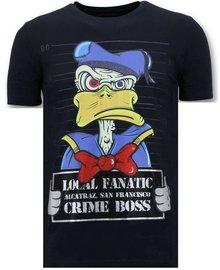 Local Fanatic T-shirt - Alcatraz Prisoner - Blau