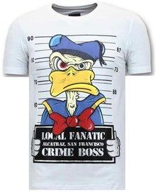 Local Fanatic T-shirt - Alcatraz Prisoner - Wit