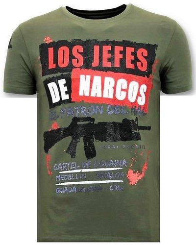 Local Fanatic T-shirt - Los Jefes De Narcos - Grün