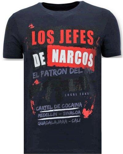 Local Fanatic T-shirt - Los Jefes De Narcos - Blauw