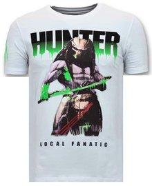 Local Fanatic T-shirt - Predator Hunter - Wit