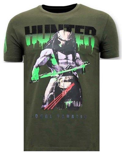 Local Fanatic T-shirt - Predator Hunter - Groen