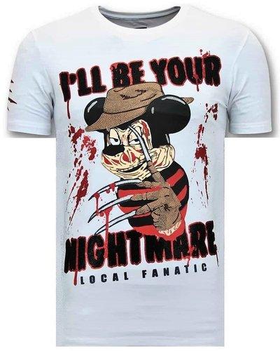 Local Fanatic T-shirt - Mickey Krueger - Wit