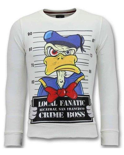 Local Fanatic Sweater Heren - Alcatraz Prisoner - Wit