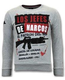 Local Fanatic Sweater Heren - Los Jefes De Narcos - Grijs