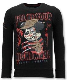 Local Fanatic Sweater Heren - Mickey Krueger - Zwart
