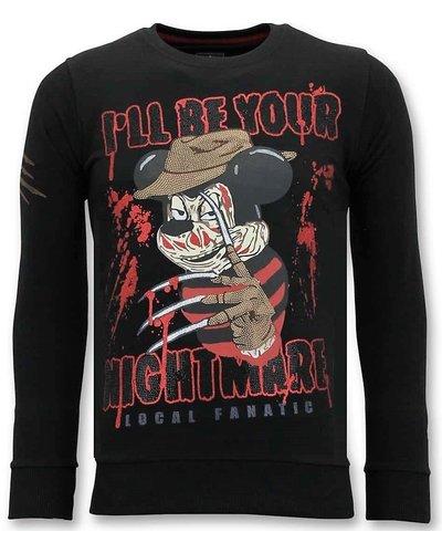 Local Fanatic Sweatshirt Men - Mickey Krueger - Black