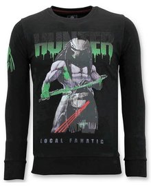 Local Fanatic Sweater Men - Predator Hunter - Schwarz