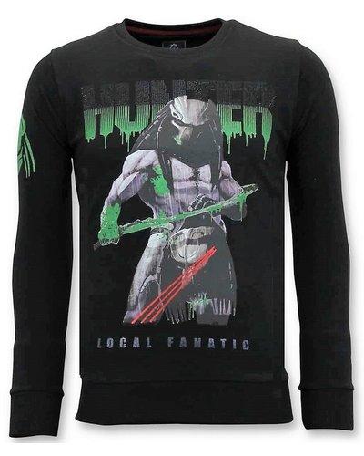 Local Fanatic Sweater Heren - Predator Hunter - Zwart