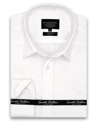 Gentili Bellini  Herrenhemd - Luxus Plain Satin - Weiß