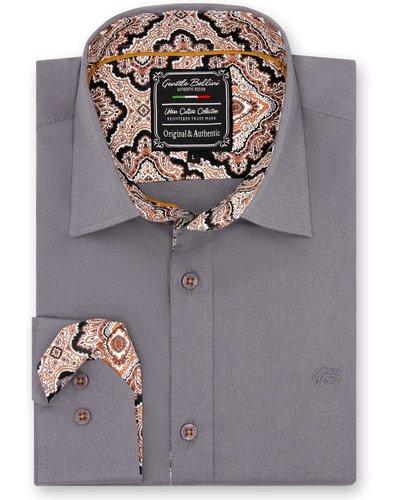 Gentili Bellini Heren Overhemd - Paisley Design - Grijs