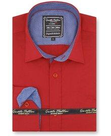 Gentili Bellini Mens Shirts - Chambray Design - Red