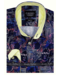 Gentili Bellini Heren Overhemd - Luxury Design Satin - Zwart / Geel