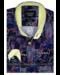 Gentili Bellini  Herrenhemd - Luxus Design Satin - Schwarz / Gelb