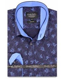 Gentili Bellini Herrenhemd - Herbstblatt - Blau