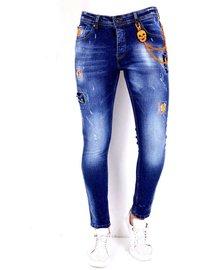 Local Fanatic Men's Jeans - Slim Fit - LF-DNM-1006 - Blue