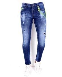 Local Fanatic Heren Jeans - Slim Fit - LF-DNM-1005 - Blauw