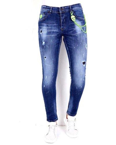 Local Fanatic Men's Jeans - Slim Fit - LF-DNM-1005 - Blue
