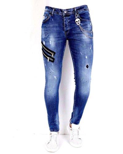 Local Fanatic Heren Jeans - Slim Fit - LF-DNM-1002 - Blauw