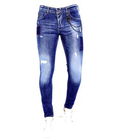 Local Fanatic Herren Jeans - Slim Fit - LF-DNM-1001 - Blau