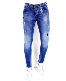 Local Fanatic Men's Jeans - Slim Fit - LF-DNM-1009 - Blue