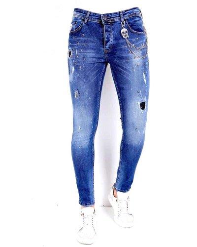 Local Fanatic Heren Jeans - Slim Fit - LF-DNM-1009 - Blauw