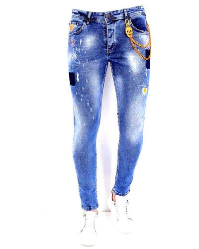 Local Fanatic Herren Jeans - Slim Fit - LF-DNM-1008 - Blau