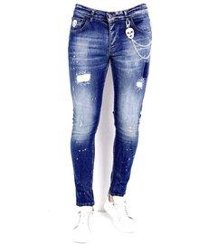 Local Fanatic Heren Jeans - Slim Fit - LF-DNM-1010 - Blauw