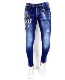 Local Fanatic Heren Jeans - Slim Fit - LF-DNM-1004 - Blauw