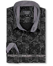Gentili Bellini Heren Overhemd - Web design - Zwart