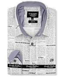 Gentili Bellini Heren Overhemd - Luxury Design Satin - Beige