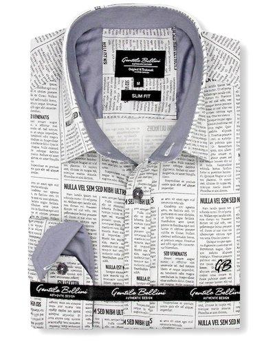 Gentili Bellini  Herrenhemd - Luxus Design Satin - Beige